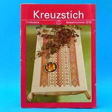 Kreuzstich   13 Modelle   Verlag für die Frau # 2278   DDR 1989