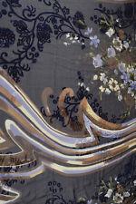 Silk Blend Devore Fabric - Multi Floral - 90x140cm