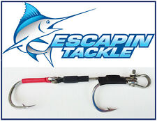 6/0 Razorpoint Double Hook Rig. Suit 6-8inch trolling lures. Stainless