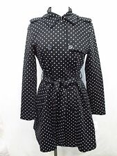 Ralph Lauren Petite Large Polka Dot Double Breasted Trench Coat MSRP: $220 X124