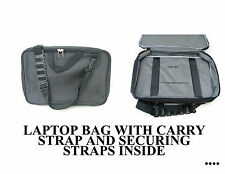 LAPTOP BAG BLACK WITH HANDLE AND SHOULDER STRAP PADDED