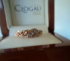 Clogau Welsh 18ct Yellow & Rose Gold Tree Of Life 3 x Diamond Ring - size  L / M