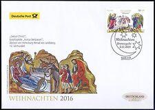 BRD 2016: Weihnachten! Post-FDC der Nr. 3266 mit Berliner Sonderstempel! 1701