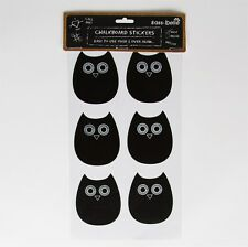 12 Reusable Novelty Owl Chalkboard Stickers Craft Glass Jar Container Labels