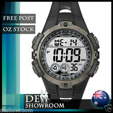 Timex Men's Marathon Black Resin Watch, Indiglo, Alarm T5K802 - Free Post in AU