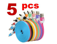 5X Flat Micro USB Data Charger Cable for Samsung Galaxy S3 S4 S5 S6 S7 Note EDGE