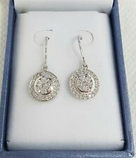 """Superb Wallace Bishop 18ct White Gold & Diamond """"Mystere"""" Earrings RRP:$5999.00"""