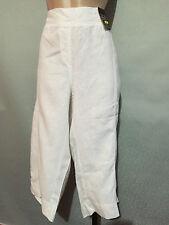 BNWT Womens Sz 18 Autograph White Pure Linen Elastic Waist 3/4 Crop Pants RRP$60