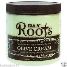 "DAX ROOTS OLIVE CREAM ""LEAVE IN & STYLING CREAM FOR MODERATELY DRY HAIR"" 213G"