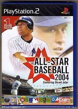 PS2 All Star Baseball 2004 ( 2003 ) UK Pal, Brand New & Sony Factory Sealed