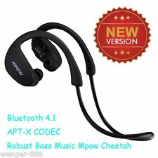 Mpow Cheetah Sports Black Bluetooth Wireless Stereo Headphones With Microphone
