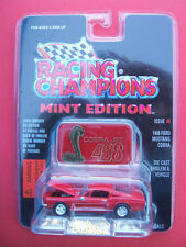 RACING CHAMPIONS MINT1968 FORD MUSTANG COBRA JET/DIECAST EMBLEM STAND 1:58 SCALE