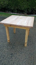 Very Solid Kitchen Square Table With A Beech Top on A Pine Base