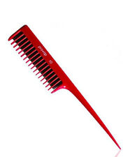 Pro Tip 10 Backcombing Hair Comb Red Professional Quality for Back Combing