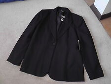 ROCKMANS STUNNING BLACK  JACKET FULLY LINED BNWOT SIZE 16 RRP$89.95