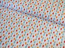 Baumwolle Drops türkis orange Patchwork Deko Baumwoll Stoff Meterware