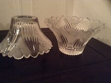 VINTAGE ART DECO CUT GLASS WALL LIGHT/ CEILING LIGHTSHADE BEAUTIFUL & RARE