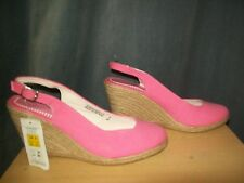 M&S Pink Sling Back Wedge Shoes Size UK 6 (39) BNWT