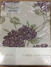 "Montgomery Mariella Aubergine Lined curtains 46x54"" 116x137cm"