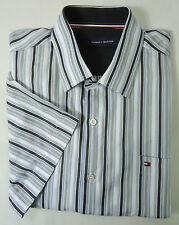 TOMMY HILFIGER Hemd Gr 3XL blau weiß gestreift Freizeithemd Shirt Chemise