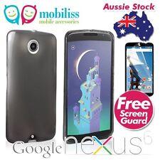 TPU Gel Silicone Jelly Case Cover for Motorola Google Nexus 6 - Dark Grey