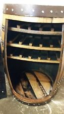 "Recycled Solid Oak Whisky Barrel ""Balmoral"" Wine Rack 