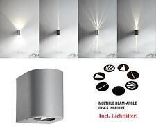Design LED Außenwandleuchte Canto Nordlux 6W 3000K Wandleuchte grau Lichtfilter