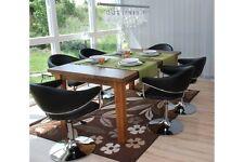 6er Set schwarz Esszimmerstuhl Stuhl modern 6 Stühle chrom drehbar Design