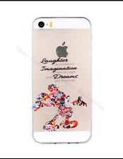 Disney Mickey Mouse Quote Phone Case For iPhone 5/5s. Clear Gel SilicoNe. BN