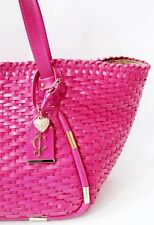 JUICY COUTURE Pink Leather Large Tote Shopper Bag