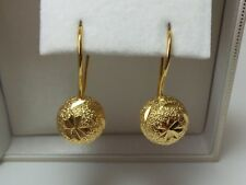 9ct Gold Filled Plated Fancy Ball Drop Earrings.