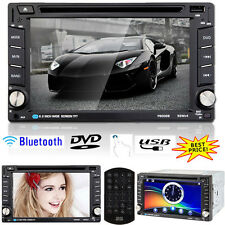 6.2'' Double DIN Car DVD CD Player Radio Stereo Head Unit Bluetooth Touch USB SD