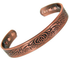 MENS STRONG COPPER CELTIC BIO MAGNETIC BRACELET FOR STRESS ARTHRITIS PAIN RELIEF