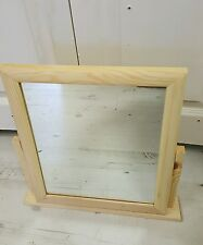 Free Standing Solid wood dressing table mirror, natural, tilting function NEW