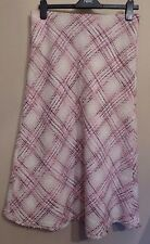 Per Una UK12L EU40L US8L new pink tweed lined skirt with frayed hemline