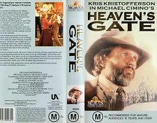 HEAVEN'S GATE - Kris Kristofferson - VHS - PAL - New and Sealed - Never Played!!