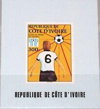 IVORY COAST ELFENBEINKÜSTE 1978 556 470 Deluxe Soccer World Cup Fußball WM MNH