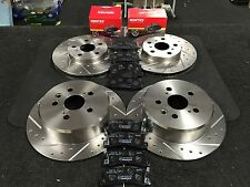 TOYOTA CELICA IMPORT ST183 ST202 1991-98 BRAKE DISCS DRILLED GROOVED MINTEX PADS