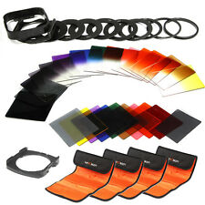 40 in 1 Graduated Full Colour ND 2 4 8 Filter Kit 52 58 77 9 Adapter For Cokin P