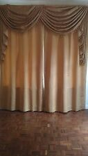 Stunning Interlined Italian Curtains with double/ single Swagged Pelmet