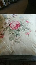 Colefax and Fowler Linen Fabric Floral Decorative Pillow Cushion Cover 17""