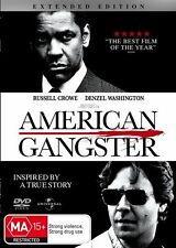 American Gangster (DVD, 2008)**R4**VGC**Russell Crowe*1 Disc*Extended edition