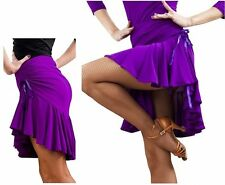 1X Top Latin Dancing Skirts Ladies Tango Skirt Ballroom Dress Girls Salsa Skirts
