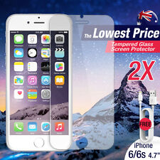 """2 X Tempered Glass Screen Film Protector for Apple iPhone 6 6S 4.7"""""""