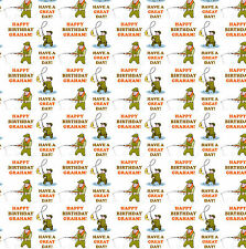 Personalised Gift Wrapping Paper FISHING Birthday Any Name! Large Sheet!