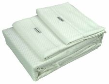 Egyptian Cotton Rich Weaved Gingham Bed Sheet Set -1000TC