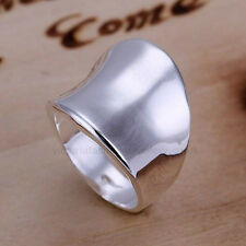 925 Sterling Silver Plated MENS LADIES CHUNKY Ring/ Thumb Ring SIZE P1/2 8 Large