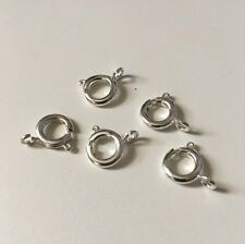 5pcs 9mm Large Bolt Ring Clasp Findings - Silver Plated - Free P+P