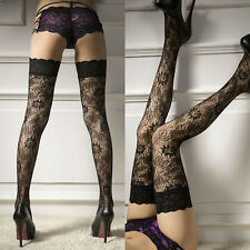New Women's Sexy Sheer Lace Top Thigh-Highs Stockings Garter Belt Suspender