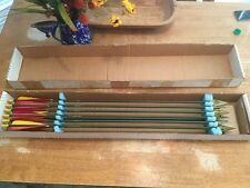 W. S. Wagner's Archery, Oil City, Pa. 7 Matched Wooden Hunting Arrows, HTF